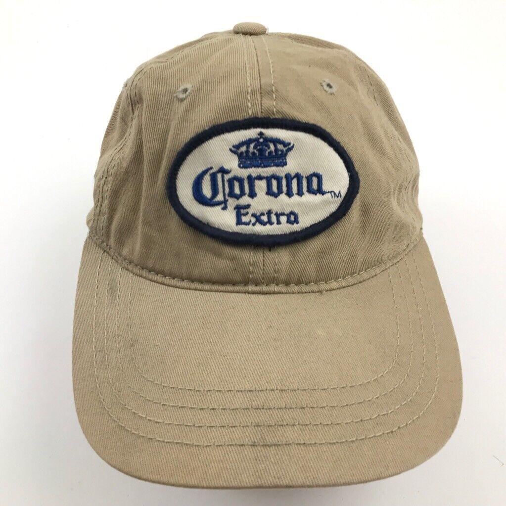 Corona Extra Hut Kappe Beige Strapback 6 Panel Einheitsgröße Erwachsene Bier