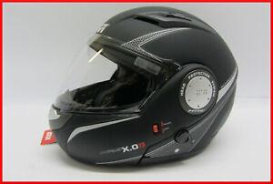 CASCO-INTEGRALE-MODULARE-APRIBILE-GIVI-HX-09-PER-MOTO-E-SCOOTER-NERO-OPACO-XS
