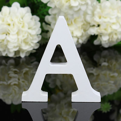 Wooden Wood Letter Alphabet Word Free Standing Wedding Party Home Decor