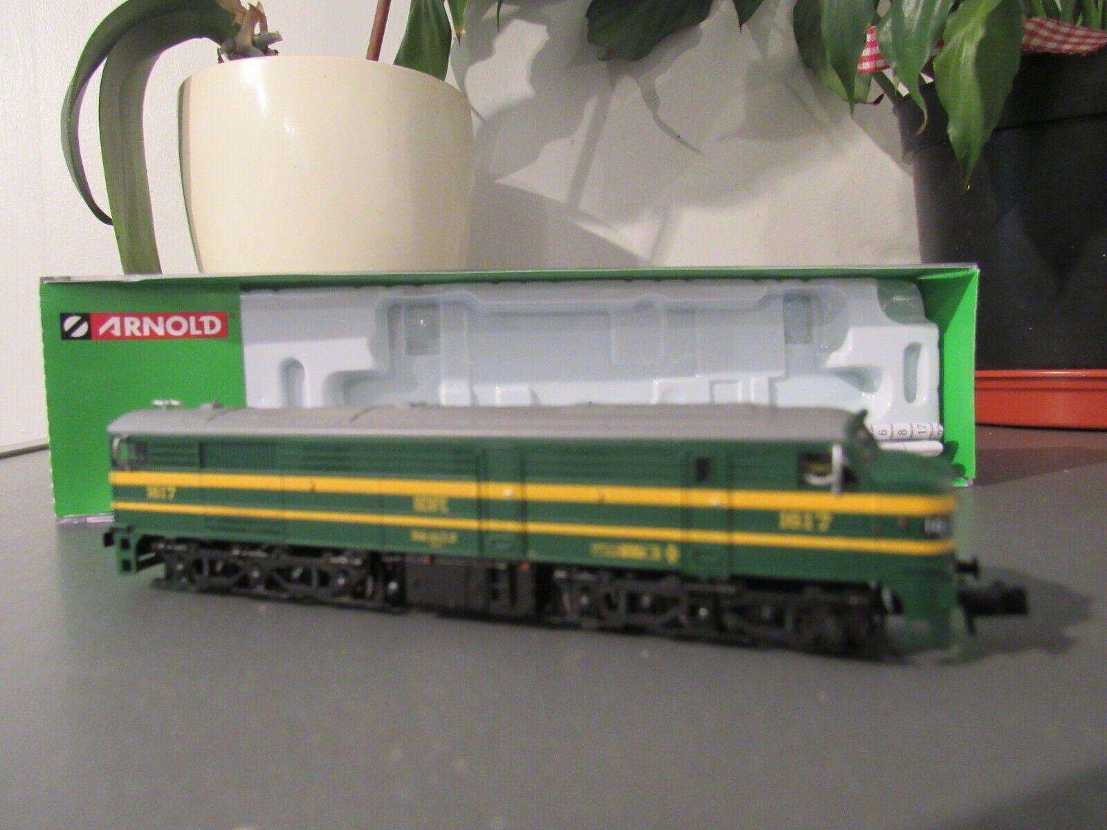 Arnold hn2410d renfe diesel locomotive 316 verde y giallo epoca 1v n gauge dcc