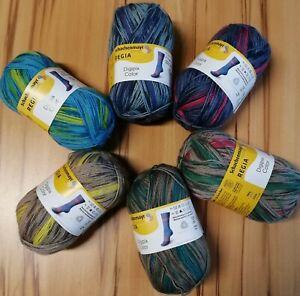 6-x-100-gr-Sockenwolle-Schachenmayr-Regia-Digipix-Color-4-faedig-SONDERPREIS