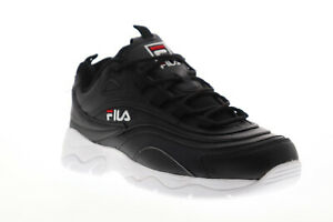 Fila-Ray-5RM00521-014-Womens-Black-Casual-Low-Top-Lifestyle-Sneakers-Shoes