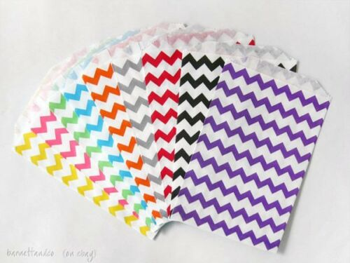 Candy Buffet 50 Chevron Stripe Paper Bags 5 x 7.5 inches Favors made in USA