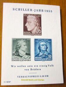 EBS-East-Germany-DDR-1955-Friedrich-Schiller-Michel-Block-12-MNG