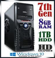 Intel Dual Core Gaming Computer 8gb Ram 1tb Office Desktop System Pc I3 I5 I7