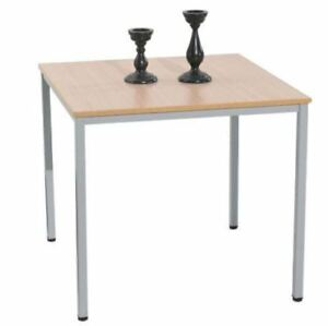 Esstisch-Kuechentisch-Tisch-80x80-cm-Ahornholz-Metallfuesse-30x30-mm-NEU