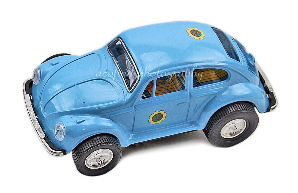 Vintage 1960s Aoshin Japan Battery Operated Smoking Volkswagen Beatle Bug Car