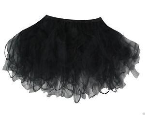 Plus-Size-Black-16-034-Dark-Fairy-Witch-Tutu-Halloween