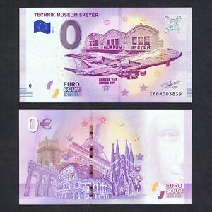 2018-GERMANY-ZERO-0-EURO-UNC-gt-TECHNIK-MUSEUM-SPEYER