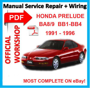 official workshop manual service repair for honda prelude 1991 rh ebay co uk 1998 Honda Prelude 92-96 honda prelude service manual.pdf