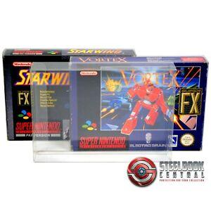 5 x GP6 SNES N64 Game Box Protectors for Super Nintendo 0.4mm PET Display Case