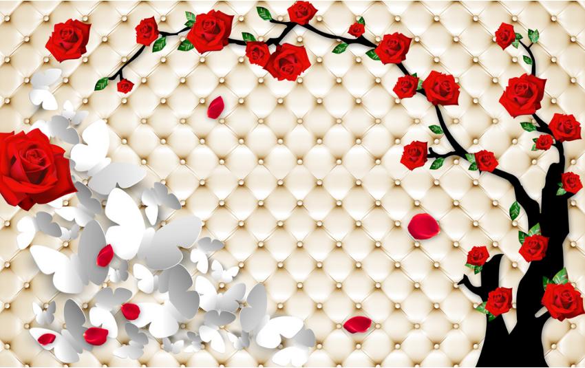 3D Roter Rosan Baum 750 750 750 Tapete Wandgemälde Tapete Tapeten Bild Familie DE Summer   Sonderpreis    Stabile Qualität     428c63