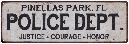 FL POLICE DEPT Home Decor Metal Sign Gift 106180012731 PINELLAS PARK