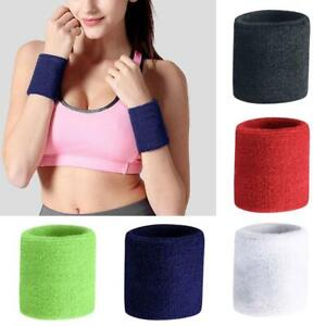 Unisex-Nylon-Schweissband-Sport-Wrist-Bands-Tennis-Gym-Yoga-Schweiss-Wristbands