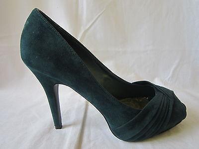 Spot on F1734 Damas Verde Punta Abierta Zapatos tamaños UK 3 - 8 (R15A)