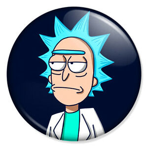 rick and morty don t care face 25mm 1 pin badge button wubba