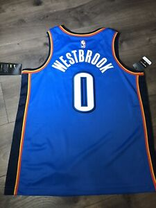 buy online 74214 7d49c Details about New Authentic Nike NBA Jersey - Oklahoma City Thunder -  Russell Westbrook Large