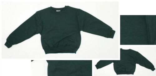 nEW Jerzees Youth Boys Girls NuBlend Crewneck Sweatshirt Forest Green Small 6//8
