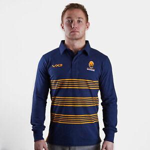 af2236069c1 VX3 Mens Worcester Warriors 2018/19 Long Sleeve Cotton Rugby Shirt ...