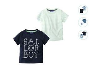 Baby-T-shirts-2-Pack-Boys-0-2-6-12-24-m-62-68-74-80-86-92-cm-Blue-White-Navy