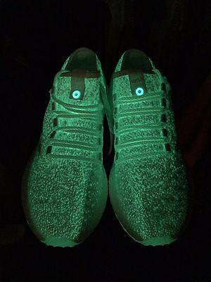 SIZE 10.5 Adidas Pureboost Glow In The Dark Consortium (Sneakerboy x Wish)