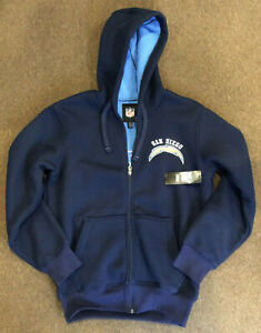 new concept e0425 6c82e Details about San Diego Chargers NFL Football Men's In The Pocket Zip  Hoodie, Navy - New