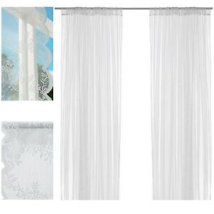 Image Is Loading 1 Pair Ikea White Alvine Spets Sheer Lace