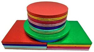 Single-Colourful-Cake-Board-Round-Square-Party-Thick-Drum-12mm-Strong-Boards