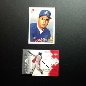 1993 Topps Jose Vidro Rookie and 2002 Uper Deck Ovation Game Used Jersey Card