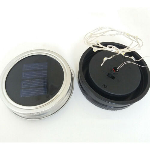 NEW Mason Jar Lid Light Up LED Solar Powered Halloween Lamp Not Included Jars