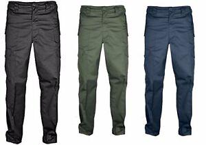 KENTEX-Men-039-s-Cargo-Combat-Plain-Trouser-Hard-Wearing-28-60-waist-Leg-29-AND-31