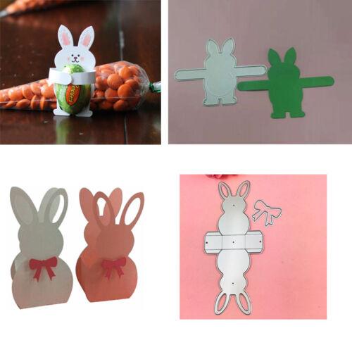 2 styles cuttings Dies rabbit Scrapbooking Metal Cartoon 3D  frame cutting dies