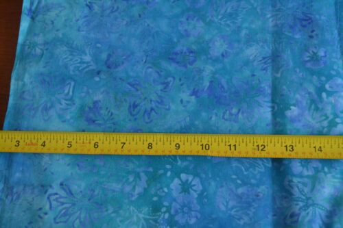 M8581 Moda//Over the Rainbow//41014 40 By 1//2 Yd Blue on Blue Quilting Batik