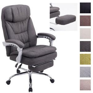 Fauteuil Bureau XL TROY Tissu Chaise Ordinateur Relaxation