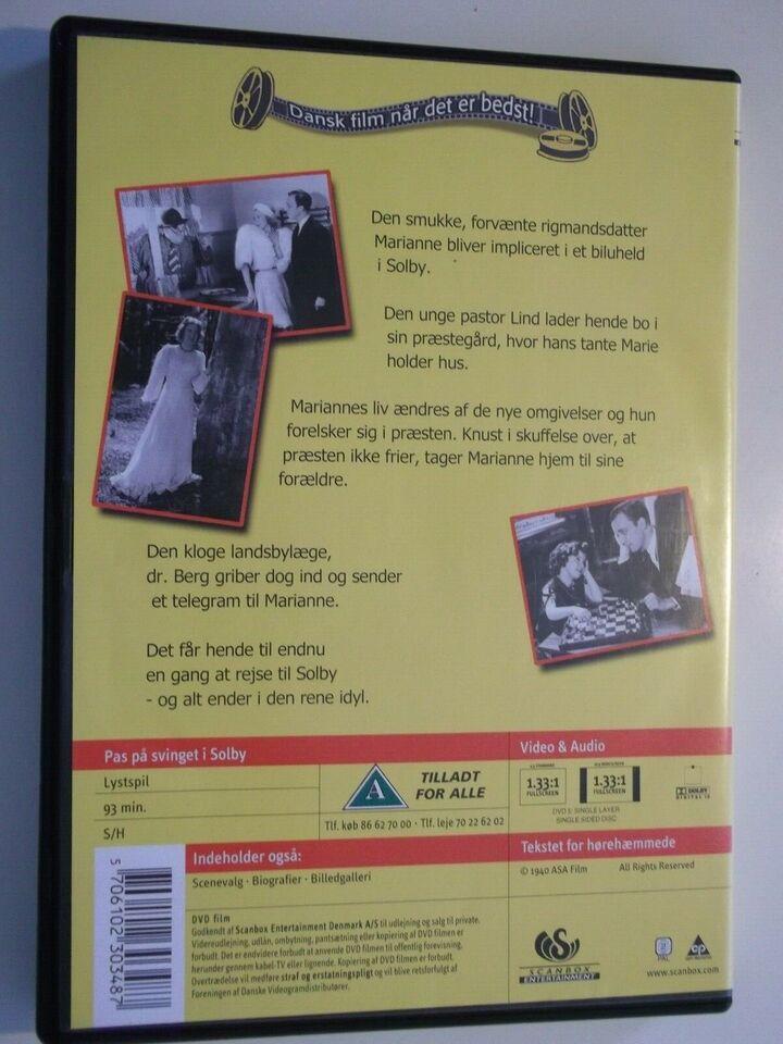Pas På Svinget I Solby, instruktør Alice O'Fredericks, DVD
