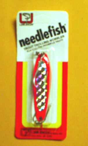 **Vintage** Luhr Jensen Needlefish 1051-003-157 Size 3 Fire//Silver Prism Lite