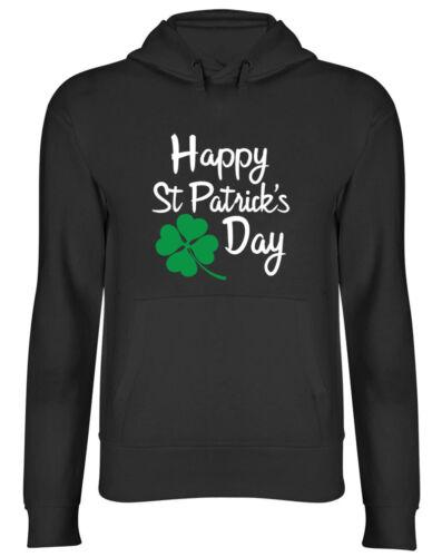 Happy St Patrick/'s Day Mens Womens Ladies Hoodie Hooded Top