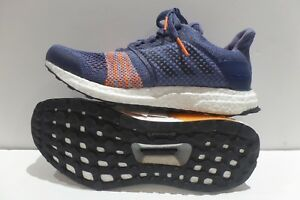 c02940822727f Adidas Women s Ultra Boost ST Raw Indigo Noble Ink Hi-Res Orange ...