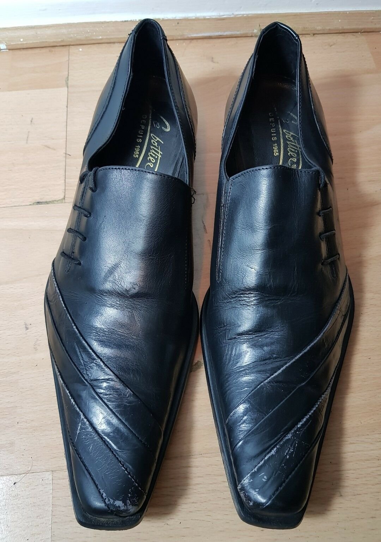 servizio onesto BOTTIER BOTTIER BOTTIER DEPUIS Designer LE nero abito formale tutte le scarpe di pelle misura EU 43  gli ultimi modelli