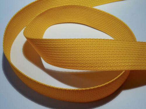 1 metros de cinturón ykk banda 38mm amarillo 1,69 euros por M 506