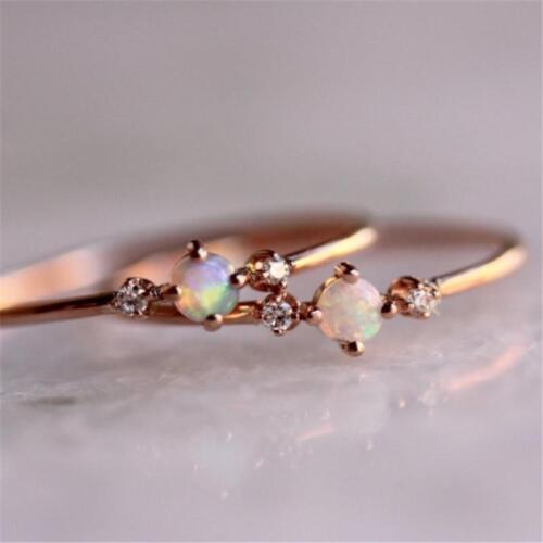 Rose Gold Engagement Micro-set Delicated  Diamond Ring LA
