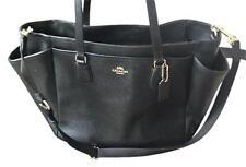 500 Brand New Coach Multifunction Crossgrain Leather Black Diaper Bag