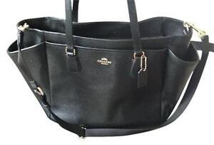 Details about  500 BRAND NEW COACH Multifunction Crossgrain Leather Black Diaper  Bag ffc626e05388e