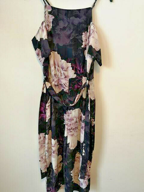 Simply Be - Grazia Jumpsuit - Purple Floral - Size 20 - Price Marked @