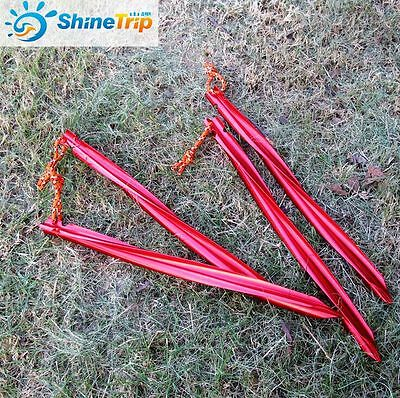 10Pcs 25cm Camp Aluminium Alloy Spiral Sand Snow Ground Awning Tent Pegs Stakes