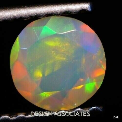 ETHIOPAIN WELO OPAL 3 MM ROUND MULTI FIRE FACETED CALIBRATED 5 PIECE SET F-315
