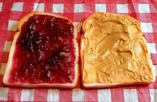 Realistic Artificial Faux Fake Food Replica PEANUT BUTTER JELLY SANDWICH PROPS