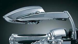 Motorcycle Mirrors Scythe Billet Metal Chrome Pair Set - HD Metric Bolts