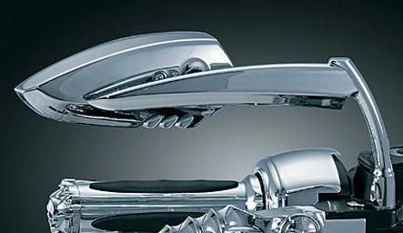 HD Metric Bolts Scythe Motorcycle Mirrors Black or Chrome Custom Billet Metal