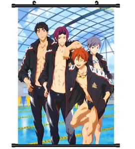 Iwatobi Swim club wall Poster Scroll 4105 Anime Free